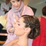 Backstage beim Brautstyling