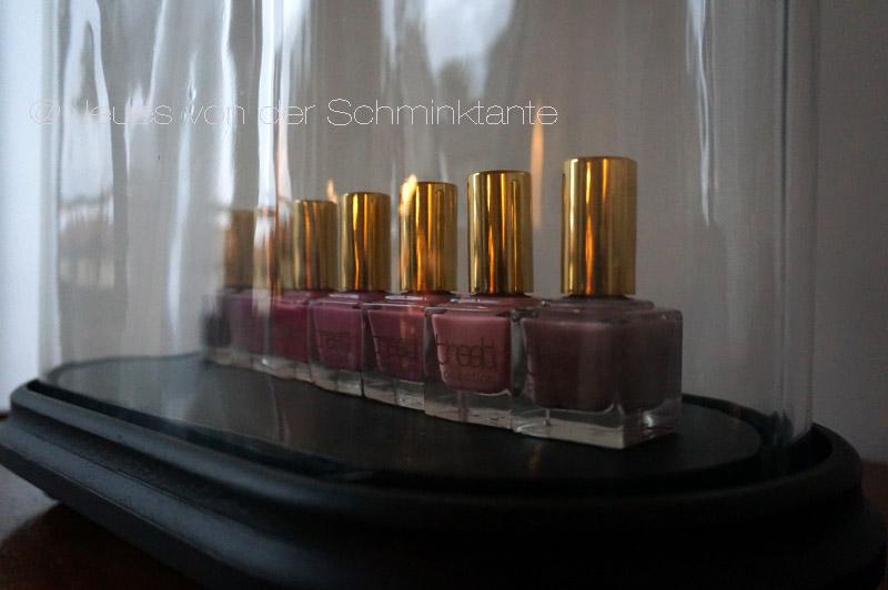 Neue Die Schminktante Anja Frankenhäuser zeigt neue Herbstfarben für die Nägel.5-free Nagellack von Treat Collection.