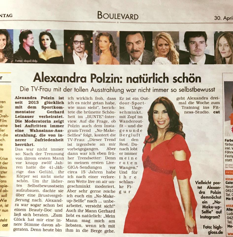 Zu Gast im Oktober - Beautyinterview der Schminktante ist Moderatorin Alexandra Polzin.