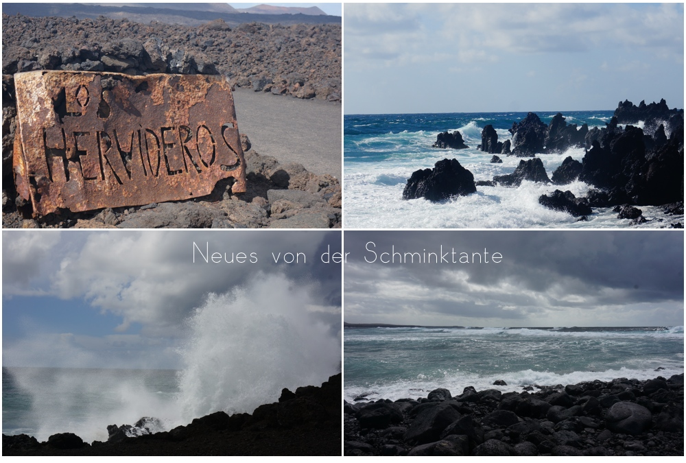 LosHervideros, Lanzarote, Reisen, Reise, Travel, unterwegs, Kanarische Inseln, Meer, Ozean, Atlantik, Schminktante