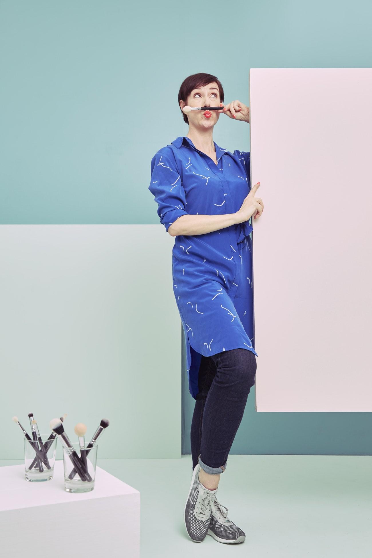 Make up Artist Anja Frankenhäuser aka Schminktante testet den neuen Fusion4 Sneaker.
