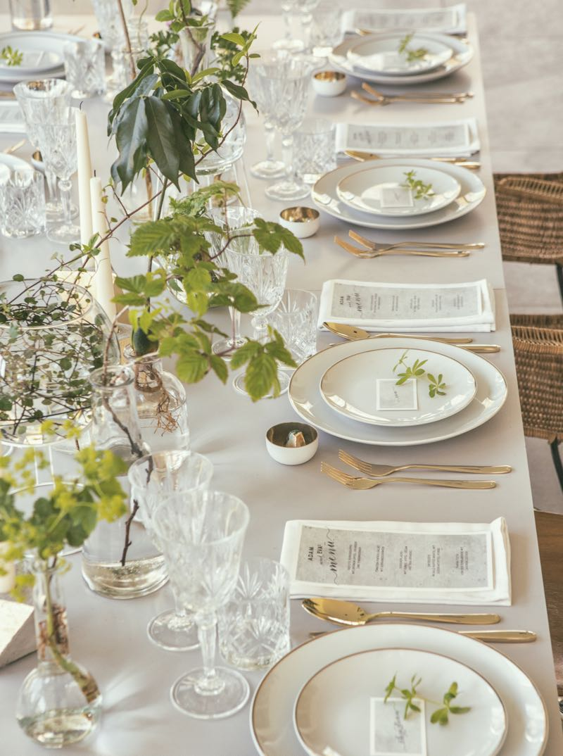Elegante Hochzeitstafel.