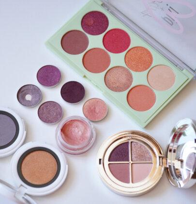 Farbe auf die Augen: Apricot & Violett