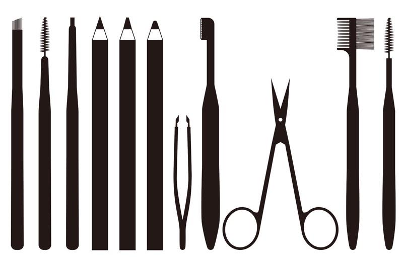 Tools für die Augenbrauenkorrektur.