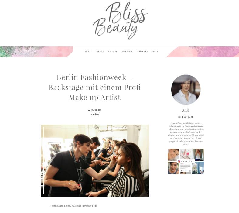 Die Schminktante schreibt ab sofort auch für das Bliss Beauty Blogzine.