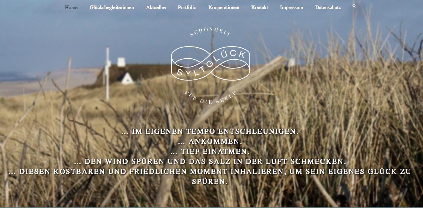 Die Syltglück-Website ist online.