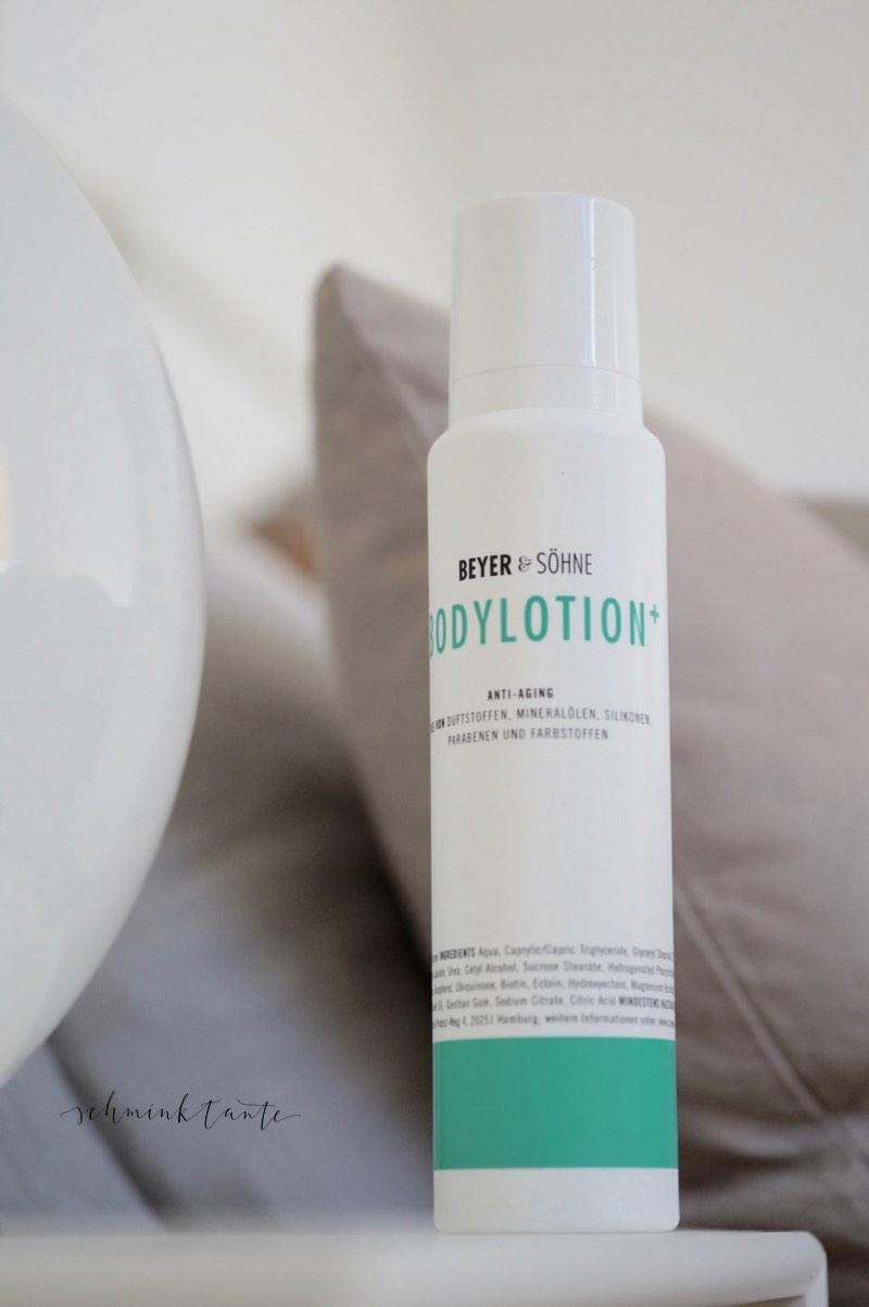 Die neue Bodylotion+ von Beyer und Soehne, das Review von der Schminktante.