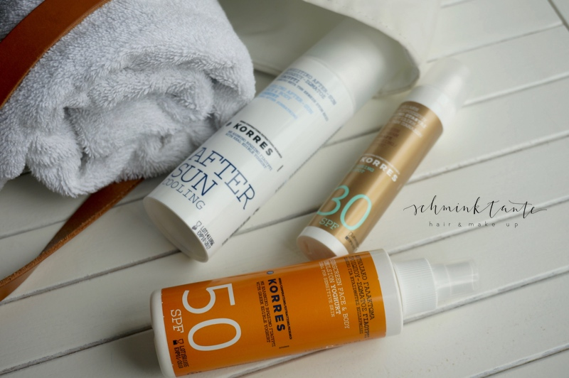 Korres, Sonnenschutz, Sonnencreme, LSF, UVA, UVB, Sunscreen, UV-Schutz, Schminktante, Beautyblog, Ü40Blog