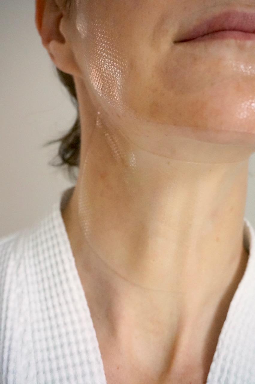 Hydrogel Mask für den Hals von Teoxane.
