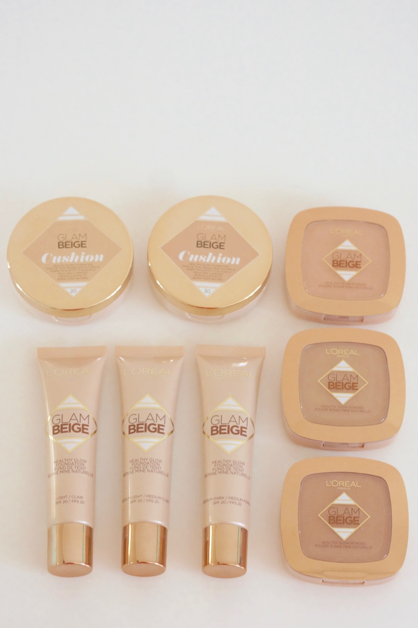 Die Glam Beige Healthy Glow Make up Produkte von L'Oreal.