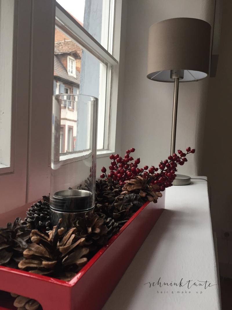 Weihnachtsdeko im neuen Zuhause in Karlsruhe.