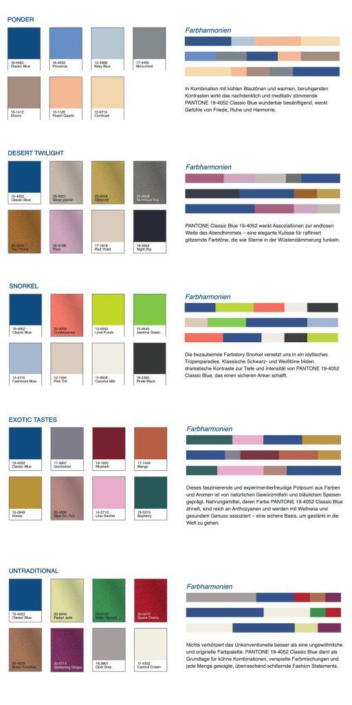 Classic Blue, Pantone, Color of the year, 2020, Blau, Klassisch, Fabren, Schminktante, Anja Frankenhäuser, Trendfarbe, Modefarbe, Farbharmonien
