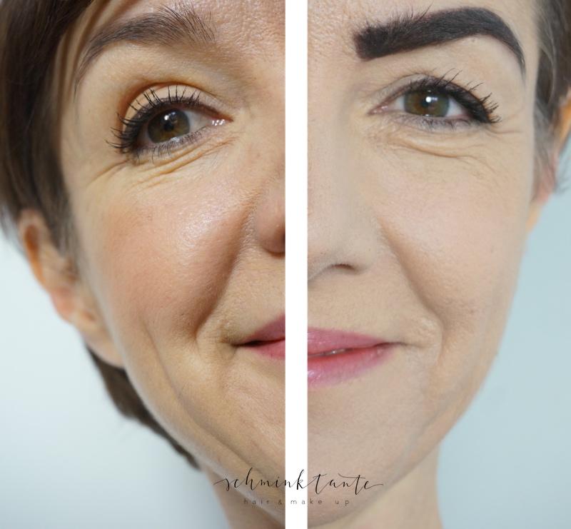 Make up Gesichter: einerseits passend, andererseits zu viel Schminke.