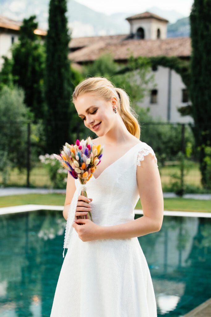 Brautkleidshooting für Küss die Braut am Gardasee in Italien. Brautmode,  Kloster, Reisen, Monastero Arx Vivendi, Schminktante, Anja Frankenhäuser, Make up Artist, Top-Blog