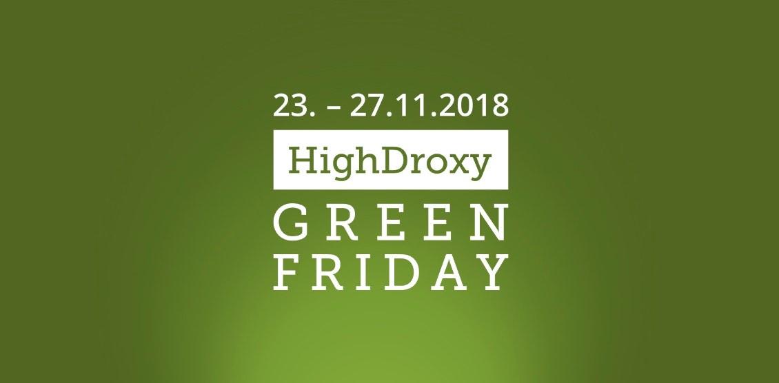 Black Friday auch bei HighDroxy. 20% auf alles!