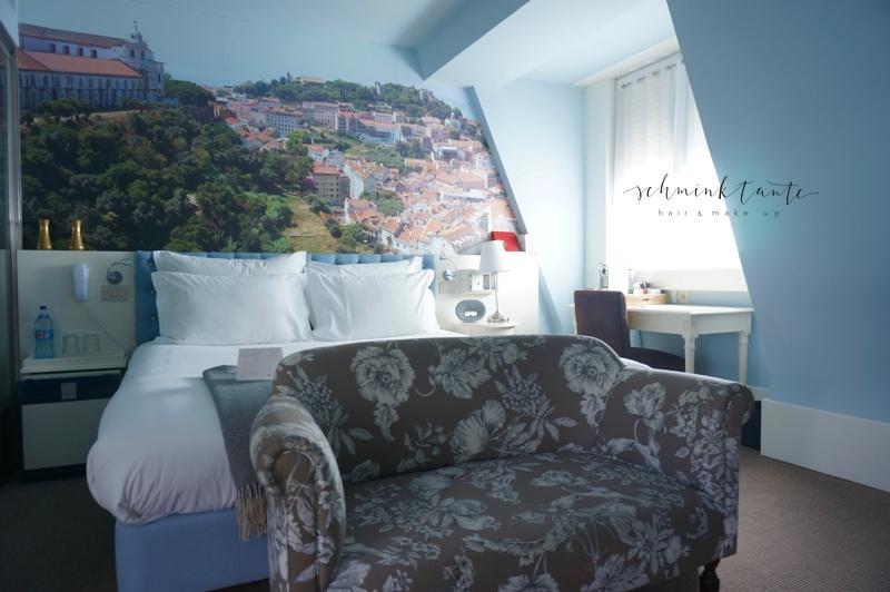Hotel, LX Boutique Hotel, Bett, blau, Sofa, Raum, Einrichtung, Lissabon, Reisen, Portugal, Lissabon, Reise, Reisetipps, Reisen, Travel