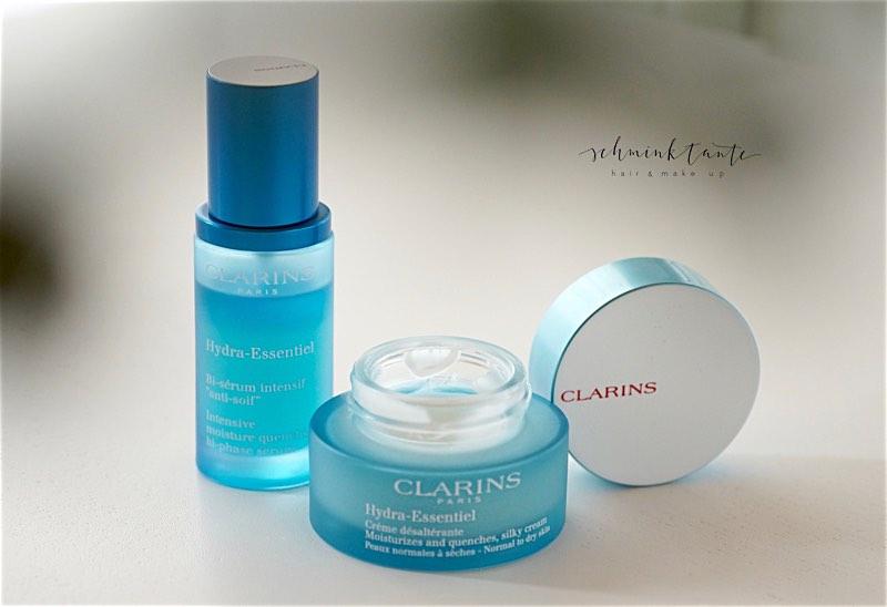 Feuchtigkeitsspendende Hautpflege: Hydra Essentials von Clarins.