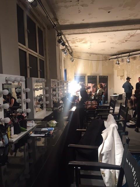 Make up Room auf der Berlin Fashionweek im Kaufhaus Jandorf.