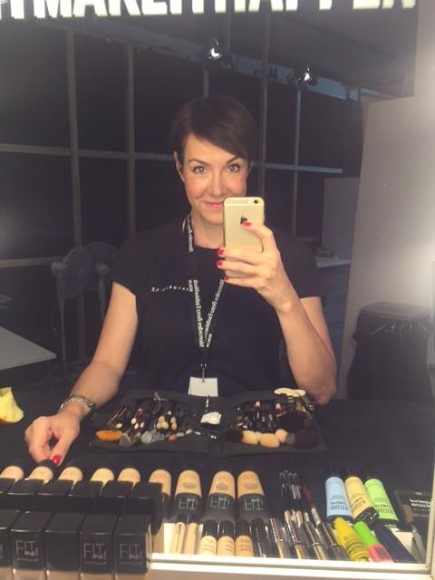 Anja Frankenhäuser alias Die Schminktante auf der Berlin Fashionweek im Juli 2017.