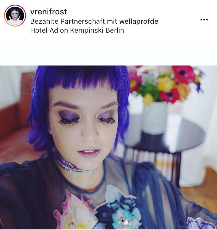 Trendsetterin Vreni Frost (mit freundlicher Genehmigung) mit Ultraviolett-Look.