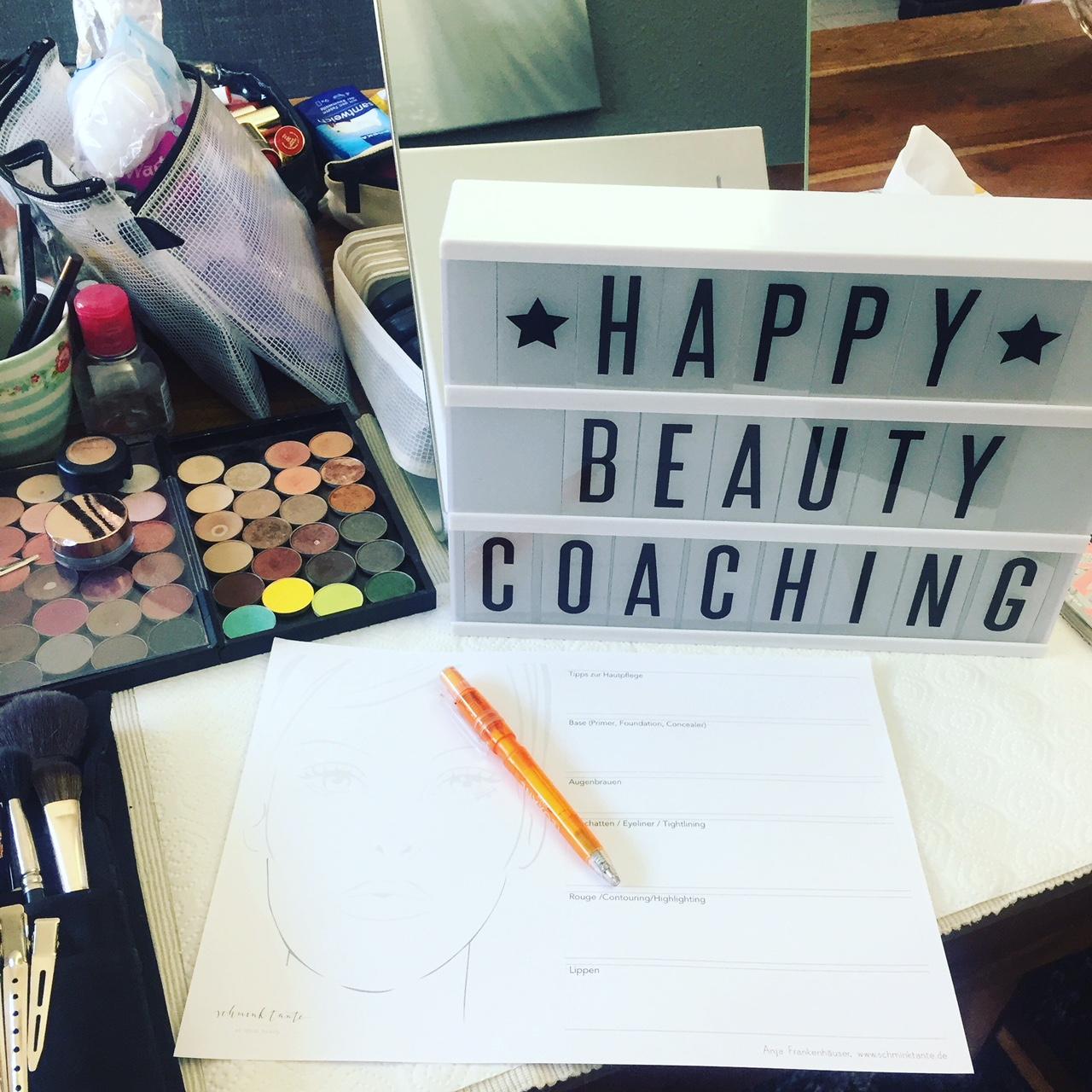 """Alle Infos zum Beautycoaching mit Profi Make up Artist und """"Schminktante"""" Anja Frankenhäuser."""