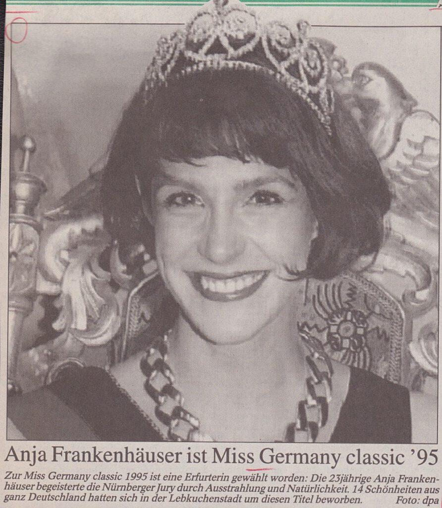 Anja Frankenhäuser, Miss Germany, Classic, 1995, Geburtstag, 50