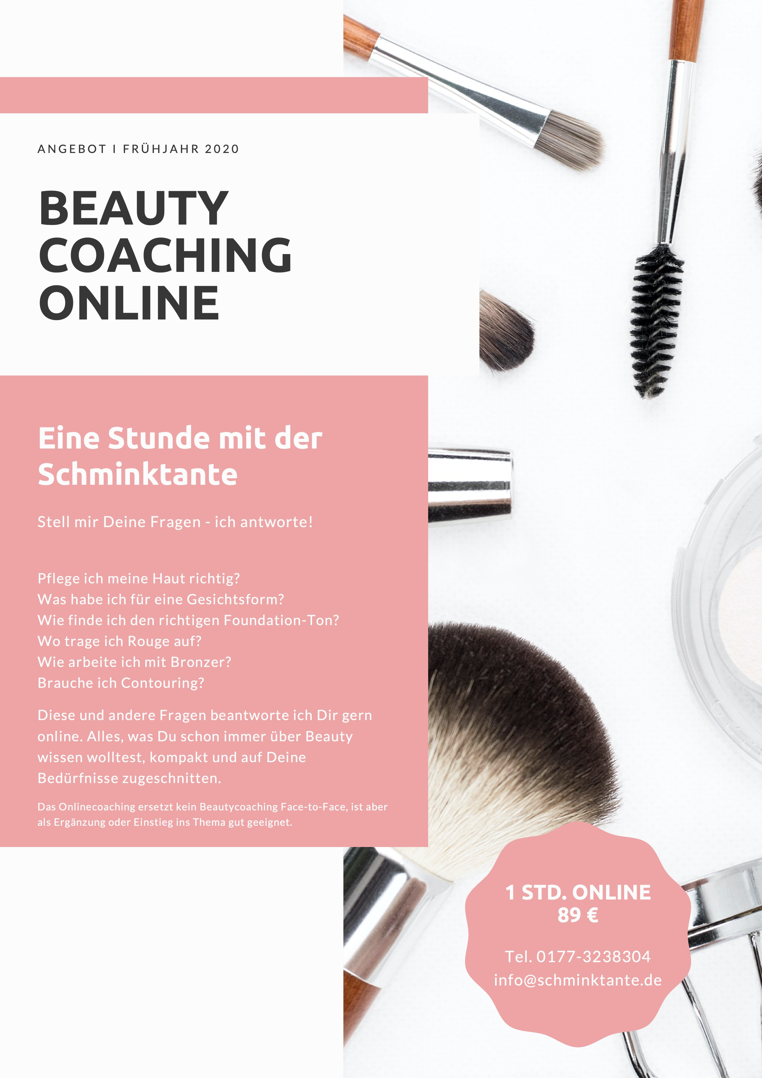 Beautycoaching, Coaching, Schminktipps, Online, Onlinecoaching, Schminktante, Anja Frankenhäuser