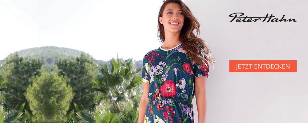 Der Sommer wird bunt und wunderbar. Mit farbenfroher und hochwertiger Damenmode von PETER HAHN.