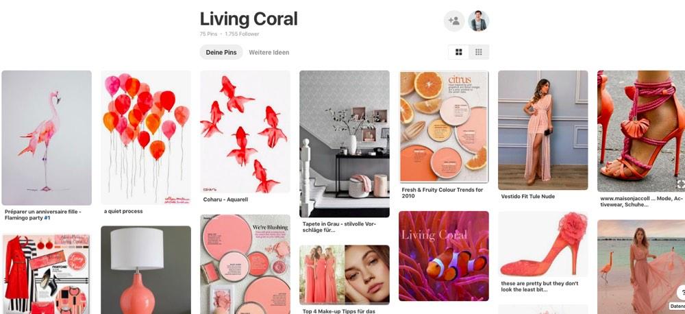 Schminktante Anja Frankenhäuser freut sich über den aktuellen Farbtrend, die Pantone Color of the year 2019: Living Coral.