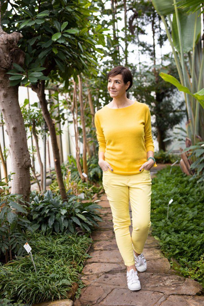 Gelb, Frühjahrsmode, Peter Hahn, Modewelt, #myperfectstyle, Fashion, Stlyle, Fashion over 40, Modeblog, Schminktante, Anja Frankenhäuser, Corona, #trotzcorona