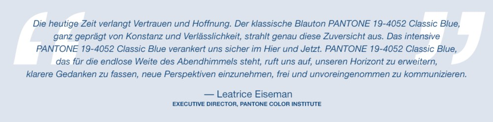 Classic Blue, Pantone, Color of the year, 2020, Blau, Klassisch, Fabren, Schminktante, Anja Frankenhäuser, Trendfarbe, Modefarbe