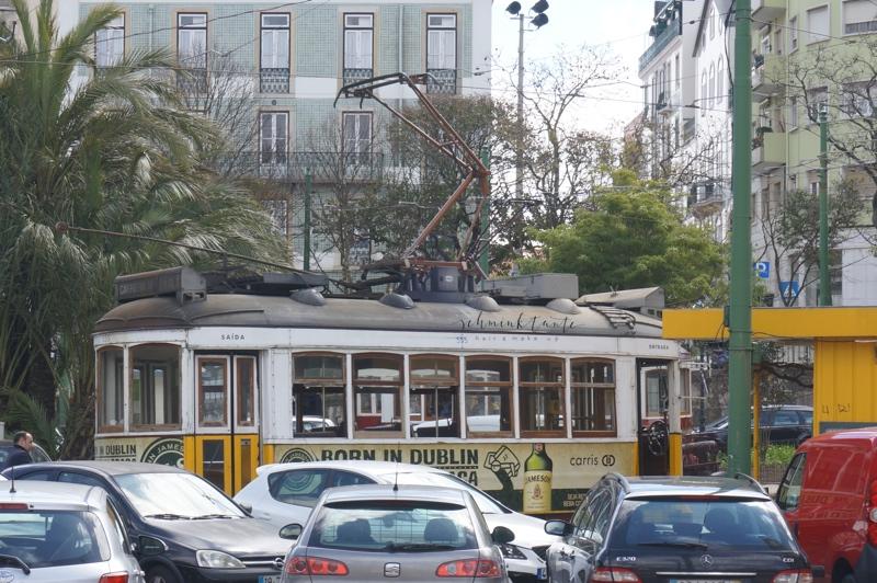 Straßenbahn, Lissabon, Stadtbild, Portugal, Portugal, Lissabon, Reise, Reisetipps, Reisen, Travel