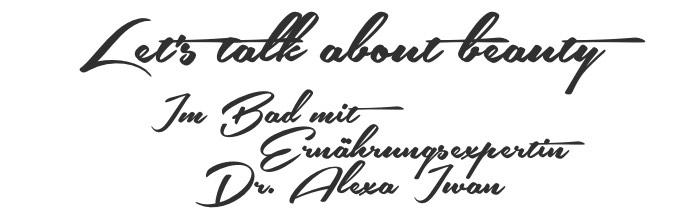 Titelbild für das Beautyinterview im Schminktantenblog mit Ernährungsexpertin Dr. Alexa Iwan.