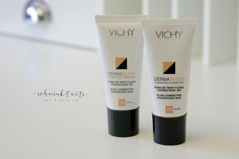 Vichy Dermablend in 2 Farbtönen auf dem Beautymarkt der Schminktante.
