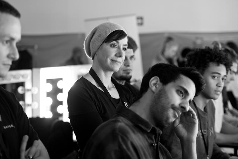 Backstage mit Sami Slimani zur Fashionweek Berlin, Januar 2017.