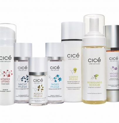 cicé im August: 20% auf das gesamte Sortiment und 1 Schminktanten-Set gratis