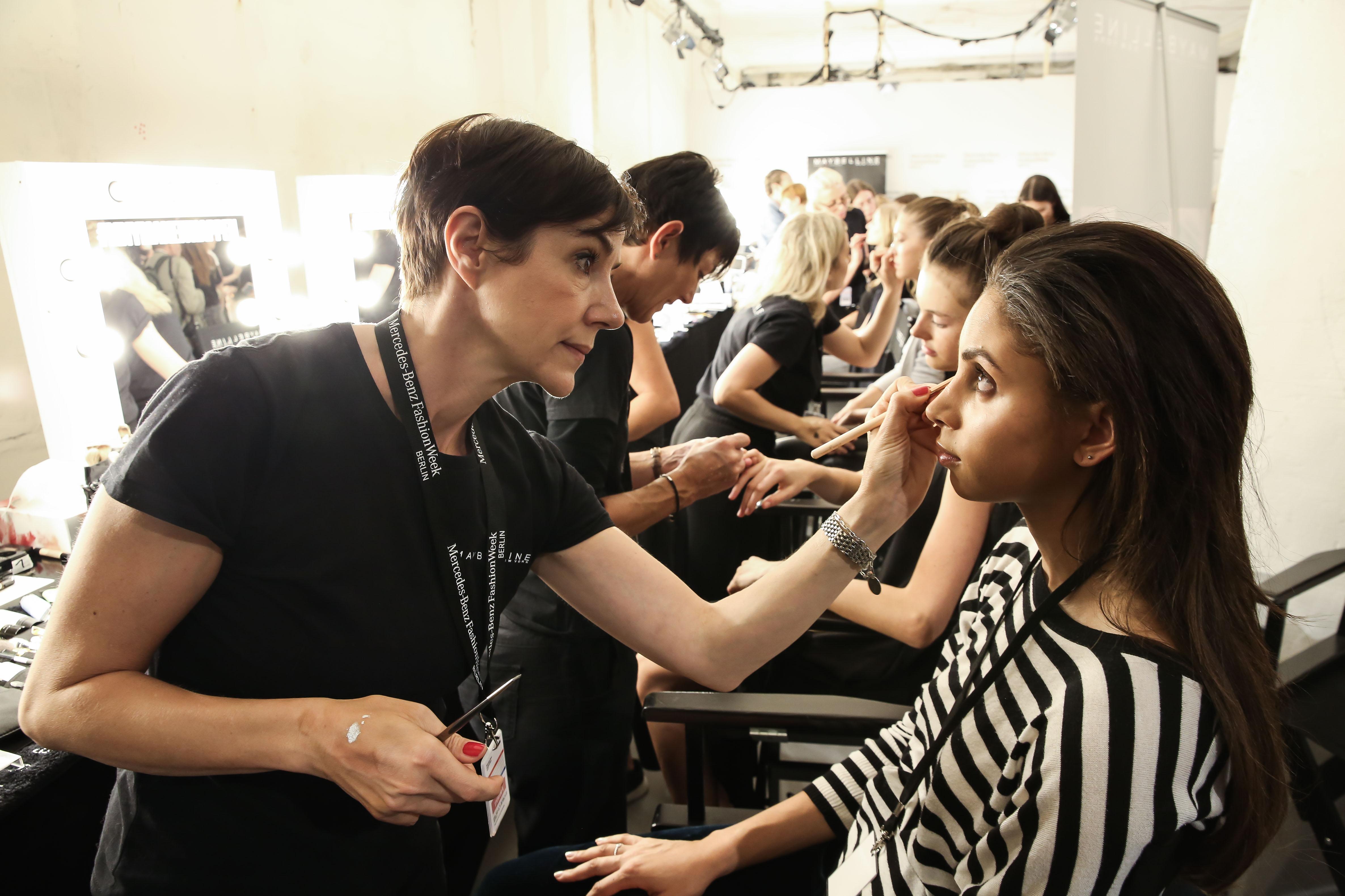 Backstage zur Berlin Fashionweek im Kaufhaus Jandorf, Juli 2017.